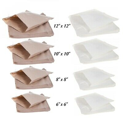 Brown Kraft White Sulphite Strung Paper Bags Sandwich Grocery Food Bag