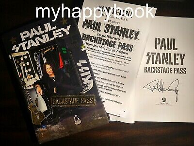 SIGNED Backstage Pass book by Paul Stanley, autographed, new, KISS, rock