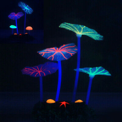 Silicone Luminous Artificial Plants Aquarium Fish Tank Landscape Decor Ornament