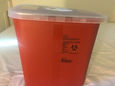 Sharps Needle Container, 1/2 Gallon, 1-Piece, Rotor Lid, Nestable, 8920SA - Each