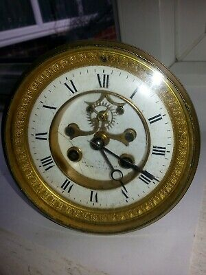 Antique French Samuel Marti Visual Escapement 8 Day Bell Strike Clock Movement