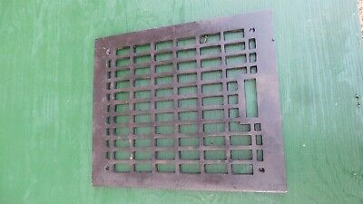 "Vintage VICTORIAN Cast Iron Floor Grille Heat Grate Register 13"" long x 11"" wide"