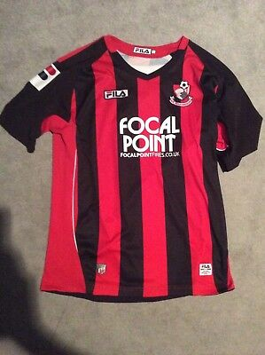 AFC Bournemouth home replica shirt kit 2011/2012 Large L Fila Focal Point