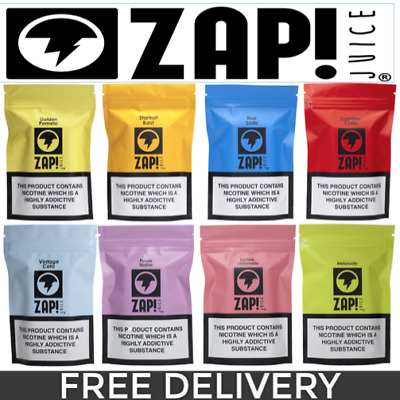 ZAP! Juice Zap E-liquid Vape - 0mg 3mg & 6mg - 3 x 10ml - 1st class del