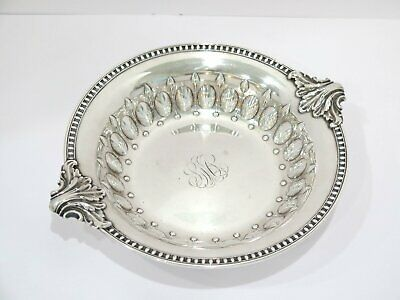 12.25 in - Sterling Silver Whiting Antique Serving Plate w/ Leaf Handles