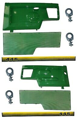 LH/RH Side Panel/Screen/Sticker SET AM128982 AM128983 Fits John Deere 445 LOW SN