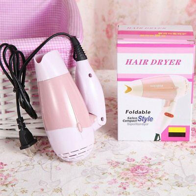 Mini Hair Dryer with Nozzle Adjustable Airflow Travel Household Hair Dryer~E NGP