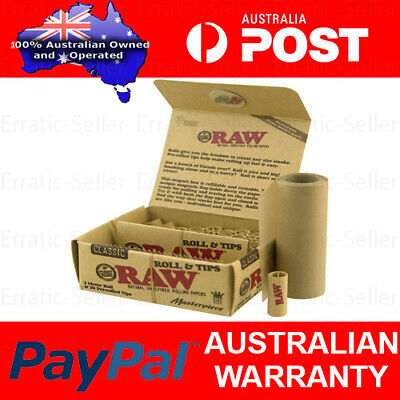 RAW Masterpiece Classic Rolls & Tips 3 meters King Size Roll 30 Pre-Rolled Tips