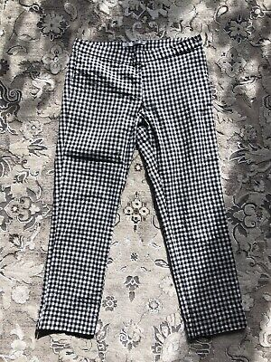 d09f354d ZARA GINGHAM TROUSERS Checked Suit Vichy Pants Ref. 1478/233 M 10 Uk ...