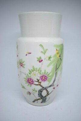 Chinese porcelain vase republic period 20th c with calligraphy