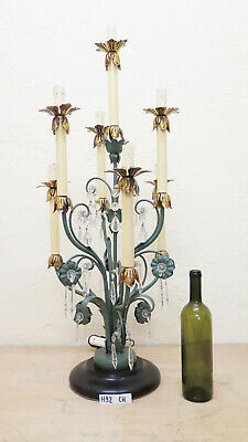 Table Lamp Floor Lamp Wrought Iron Style Floral Vintage Handmade Hand Ch