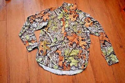 Men's Shirt Under Armour Mossy Oak Camo All Season Gear S Gents Long Sleeve Top