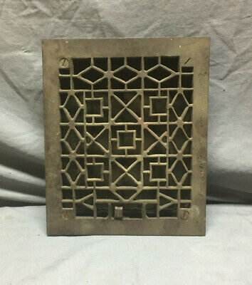 Antique Cast Iron Decorative Heat Grate Floor Register 9x12  Vintage 132-19L