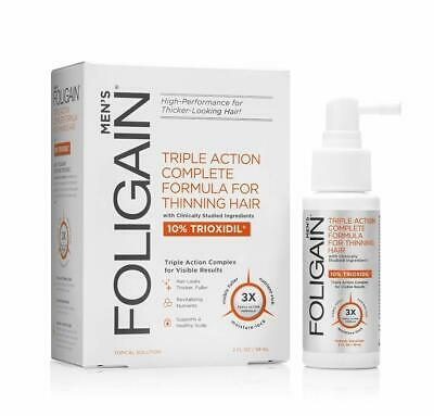 FOLIGAIN Hair Thinning Treatment For Men with 10%Triox Triple Action Formula