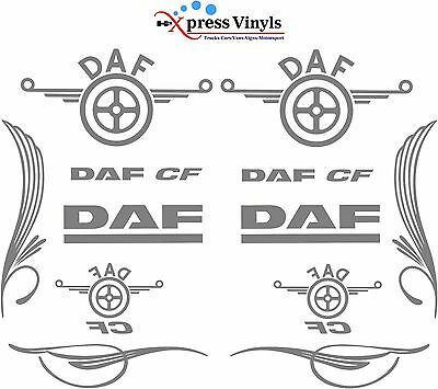 DAF CF decal MEGA PACK. truck glass/bodywork graphic stickers ANY COLOUR
