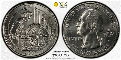 2019 W First Week of Discovery Lowell National Park Quarter 25c PCGS MS64