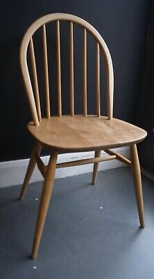 A restored and refurbished vintage original Ercol windsor dining chair.