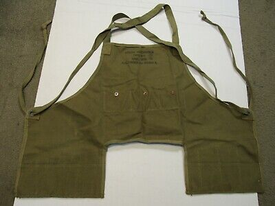 US Army Air Force corps AAF WW2 Mechanics Apron Type B-2 Spec 3136 Khaki Canvas