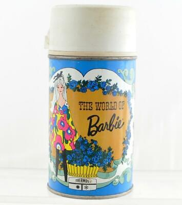 Vintage World of Barbie 1971 Metal Thermos Mattel