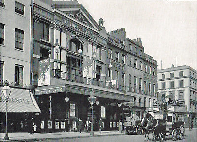 Empire Theatre Leicester Square London 1896 Antique Old Victorian Print RL#100