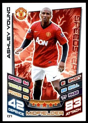 Match Attax 2012-2013 (Manchester United) Ashley Young No. 137