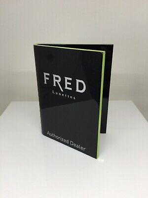 Fred Paris Display Logo Piece Rare Vintage Fred Lunettes Dealer Logo Display