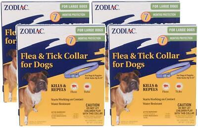 (4 Pack) Zodiac Flea and Tick Collar For Large Dogs