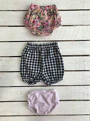 12-18 Month Baby Girl Summer Shorts Over Nappy Knickers Bundle 💗