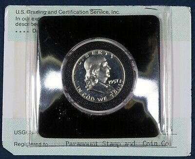 1957 P GEM PROOF FRANKLIN HALF DOLLAR  90% SILVER Graded by CSGS
