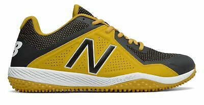 New Balance Low-Cut 4040v4 Turf Baseball Cleat Mens Shoes Yellow with Black Size