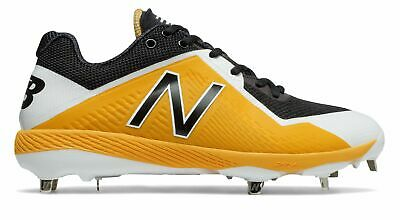 New Balance Low-Cut 4040V4 Metal Baseball Cleat Mens Shoes Black With Yellow