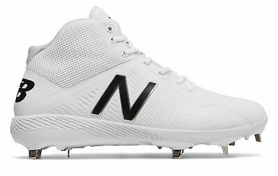 New Balance Mid-Cut 4040v4 Elements Pack Metal Baseball Cleat Mens Shoes White
