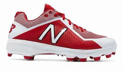New Balance Low-Cut 4040V4 Tpu Baseball Cleat Mens Shoes Red With White