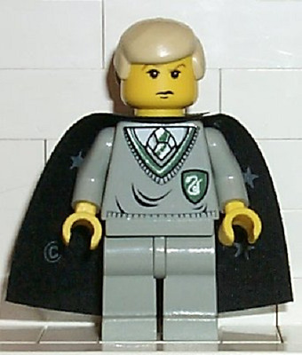 Lego Drago Malefoy Minifig W/Baguette Magique Harry Potter Mini Figurine