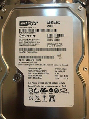 Lot of 4 x Western Digital 44E9171 80gb SATA HDD ONLY WD801ABYS-23C0A0 WD RE2