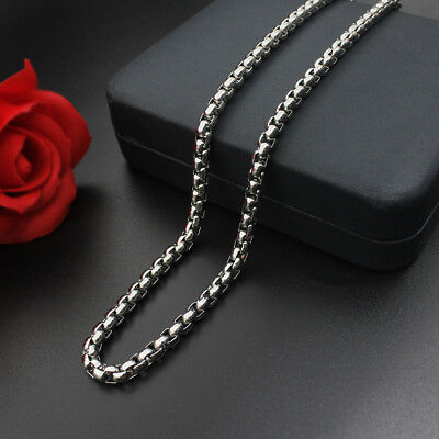 Wholesale 2.5mm-4mm Stainless Steel Square Rolo Chains Necklaces 18'' - 36''