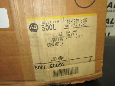 Allen Bradley 500L-Eod92 Contactor New In Box