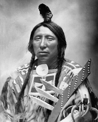 1880 Native American Indian CHIEF SPOTTED EAGLE Glossy 8x10 Photo Sioux Print