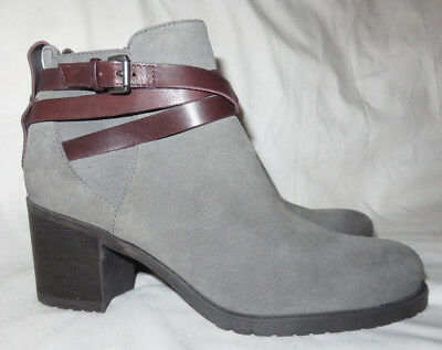 474e4b1f9 SAM EDELMAN Hannah Grey Leather Belted Ankle Booties Boots 9.5 NEW  140