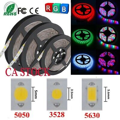 5M-50M 5050 5630 3528 SMD RGB LED Strip Lights Flexible Tape Kit 12V  IP65/IP20