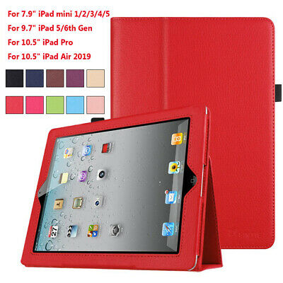 """Smart Case Slim Leather Magnetic Cover For iPad mini Pro Air 9.7"""" 10.5"""" Newest"""