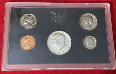 1970-S US  Mint Complete Proof  set 40%  Silver Five Coins   Nice Set