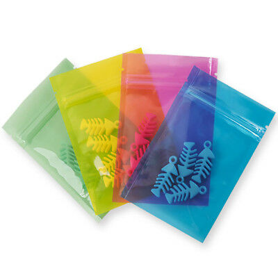 Resealable Zipper Poly Bags Pouch Clear Plastic Ziplock Baggies Jewelry Package