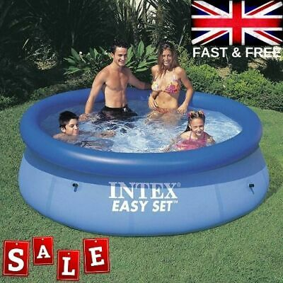 Intex Large Swimming Pool 8 Ft Garden Outdoor Inflatable Kids Paddling Pools