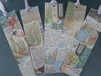 Peter Rabbit themed bookmarks x 5