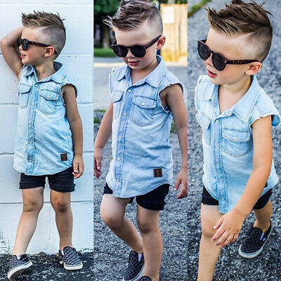 2PCS Kids Infant Baby Boy T-shirt Tops+Shorts Pants Summer Casual Outfit Clothes