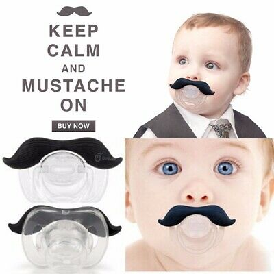 Funny Mustache Baby Boy Infant Pacifier Orthodontic Dummy Beard Nipple Soother