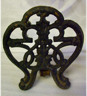 Heavy Vintage  IRON Hanging Cast TRIVET 6.7x7.6in899gms
