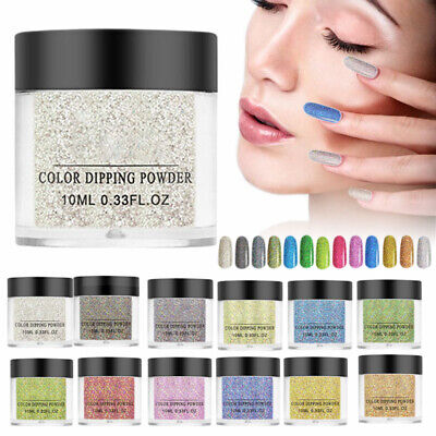 10ml Holographic Dipping Acrylic Dip Powder Glitter Nail Art Manicure Decoration