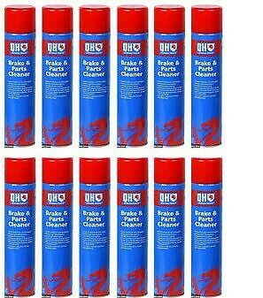 Holts Aerosol Clutch And Brake Cleaner Degreaser 600Ml Can 100% Solvent - X12